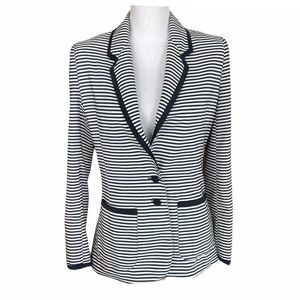 Lovers and Friends Navy and White Stripped Blazer